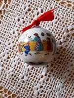 Hutschenreuther/Rosenthal porcelán gömb, dúsan mintázott, szép karcmentes darab, felakasztható