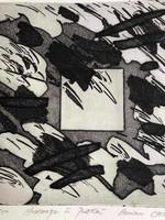 """CHUNG BO-Won (1947- )""""Kompozíció""""Szita 2/50 Pátkai Emlékére Franciaországba készült mappából"""