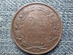 Hollandia III. Vilmos (1849-1890) 2 1/2 Cent 1881 (id43982)