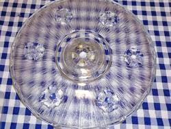 Öntött üveg talpas tortatál 30.5 cm átmérő