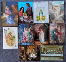 Vallási, egyházi jeleneteket ábrázoló képeslapcsomag (10db, futott)