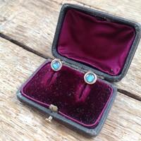 9k arany fülbevaló opál kővel