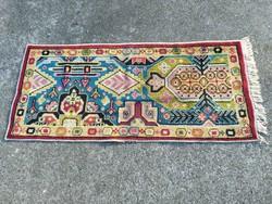 1,-Ft Antik kézi csomózású szőnyeg vagy faliszőnyeg