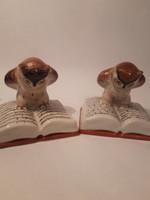 Retro ritka gyűjtői Kőbányai Porcelán ( Drasche) bagoly figurák