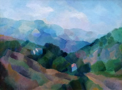 Sikuta Gusztáv ( 1919 - 1985 ) Dombos táj