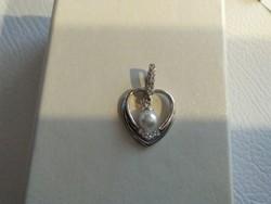 Csodaszép gyöngyös cirkón köves ezüst medál