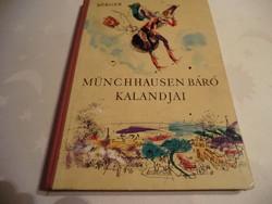 Kedves Retro könyv Bürger Münchhausen báró kalandjai Vidám történetek 8+ 1965