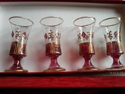 eredeti dobozában  kézi festett  6 pohár