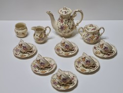 Zsolnay butterfly mocha / coffee set for 6 people