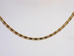 Sárga-fehér arany nyaklánc (ZAL-Au93956)