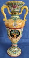 Deruta Olasz festett majolika váza