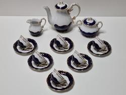 Zsolna Pompadour III mokkás / kávékészlet 6 személyes