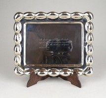 1B419 Régi 800-as finomságú ezüst tálca 85g