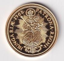 Aranyozott ezüst /0999/ Mária Terézia 2  Dukát  Tükörveret Certivel