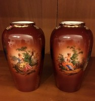 Antik Zsolnai  kisméretű vázák (csak párban) keresik új tulajdonosukat!