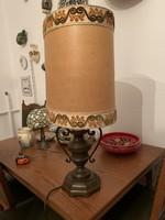 Vörös réz asztali lámpa ovális búrával