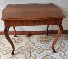 Asztal íróasztal, biedermeier neobarokk, fiókkal, játékasztal laptop notbook asztal!!szép furnér!