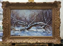 Téli tájkép Antalik