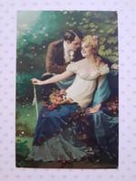 Régi levelezőlap Meister der Farbe Mézeshetek szerelmespár képeslap