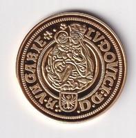 Aranyozott ezüst /0999/ II. Lajos arany Ft   Tükörveret Certivel