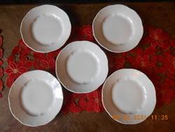 Zsolnay barokk, fehér süteményes tányér