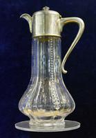 Borkiöntő, karafa ezüst és üveg