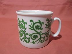 Zöld mintás Zsolnay bögre, csésze