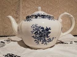 Elató antik  porcelán Villeroy&Boch gyönyörű kék mintás teás kanna!