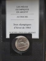 Osztrák ezüst 50 schilling - 1964 - francia certifikáttal