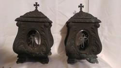 Barokk bronz mécsestartók
