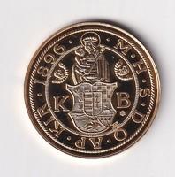 Aranyozott ezüst /0999/ Ferenc József Milleniumi arany 1896  Tükörveret Certivel
