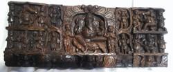 Keleti faragott fa falikép, Ganésa