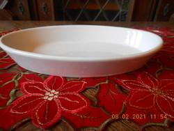 Zsolnay ovális tányér, nagyméretű
