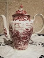 Eladó régi angol Ironstone jelenetes porcelán teás kanna!