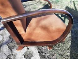 Szép hajlított fa karfás antik fotel