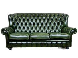 A156 Eredeti chesterfield bőr kanapé
