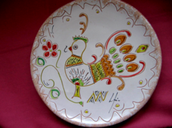 Gyűjtői madaras CHERAMICHE LOI DORGALI SARDEGNA tányér