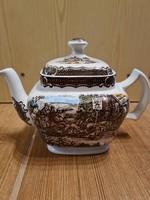 Színes angol porcelán teás kanna Wood&Sons