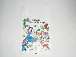Retro Hófehérke és a hét törpe mese - bolt áruház reklámszatyor reklám nylon nejlon szatyor 1980-as