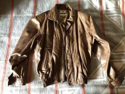 Sil Pel olasz barna bőrkabát