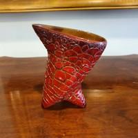 Zsolnay repesztett mázas váza
