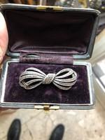 Ezüst, bross, francia, mesterjegyes, eredeti dobozában, ritkaság,8 cm-es