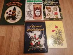 5 db régi gyógynövényes könyv