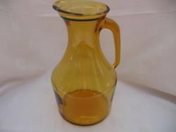 Borostyán üveg retro olasz kancsó
