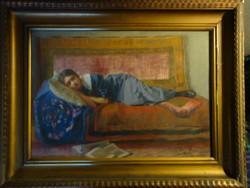 Litkei Antal: Pamlagon alvó leány