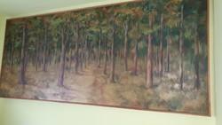 Fegyó Béla 3,8x1,6 olajfestmény (1980)