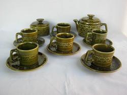 Gránit Zahajszky kerámia 6 személyes kávéskészlet