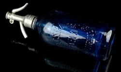 Bécsi kék szódás szódásüveg - szifon