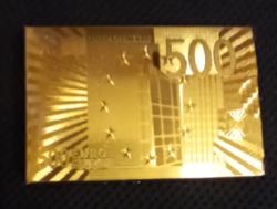 500 Euro Gold 54 Card Poker Card in Foil