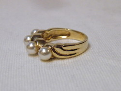 KK879 Elegáns aranyozott gyűrű